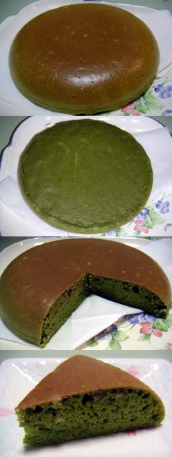 抹茶栗ケーキ