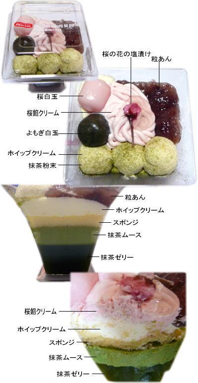 抹茶と桜のパフェ