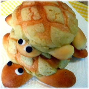 親子亀のメロンパン