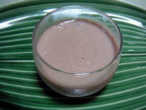 チョコバナナ豆乳プリン