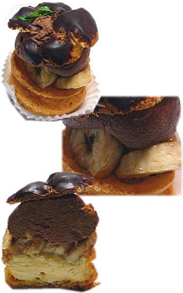 チョコとバナナのパリブレスト