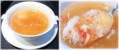 ズワイガニと冬瓜のとろみスープ