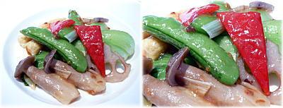 彩り野菜の炒め