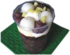 北海道小豆のクリームぜんざい