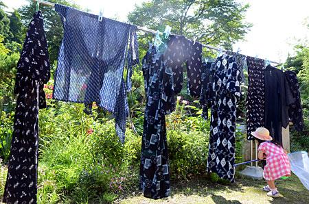 絣の洗濯物