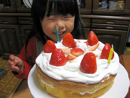 試作ケーキ