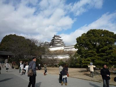 姫路城。・・・桜の頃にはちょくちょく来るんですけどねw