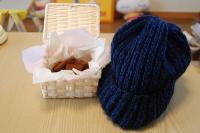 生チョコと20年ぶりくらいの編み物作品(爆)
