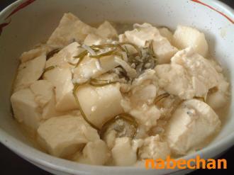 長いもと豆腐のうま煮
