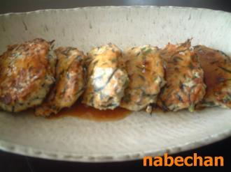 豆腐とひじきのつくね風ハンバーグ
