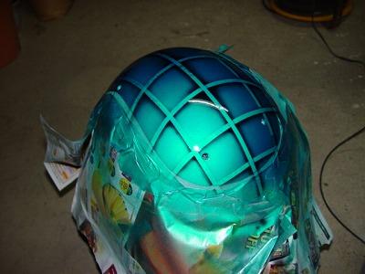 ヘルメット2号製作中