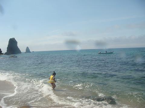 プライベートビーチ。