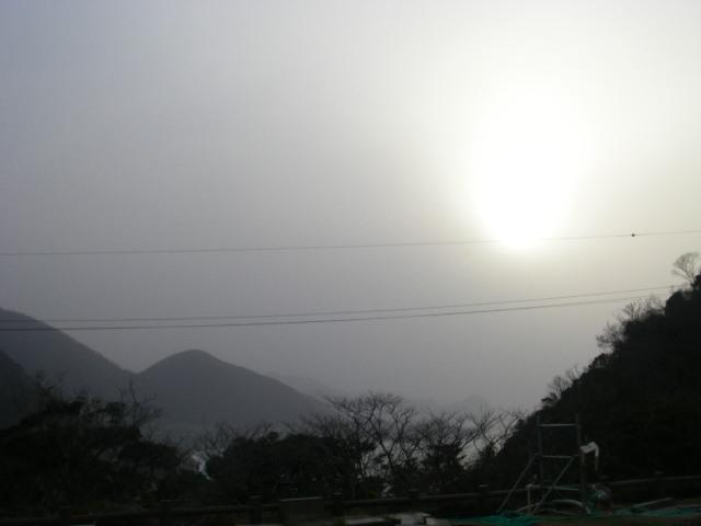 太陽と黄砂