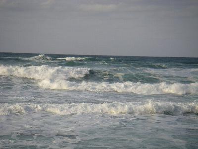 海 荒れてる