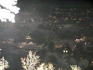 1月30日白川郷ライトアップ