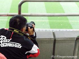スタンドのカメラマン♪