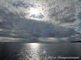 雲のす今から見た朝日♪