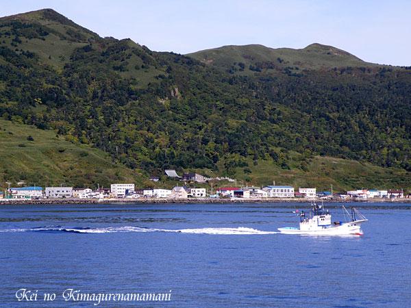 礼文島と漁船♪