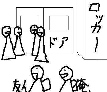 事件前の配置図