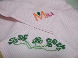 お礼の刺繍