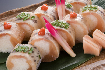 山女魚の棒寿司