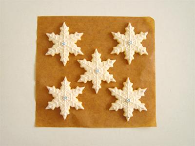 雪の結晶クッキーa