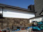 皇居東御苑の壁(3月)