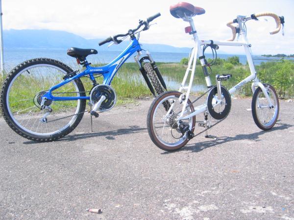 ... 。 自転車屋がサイクリング