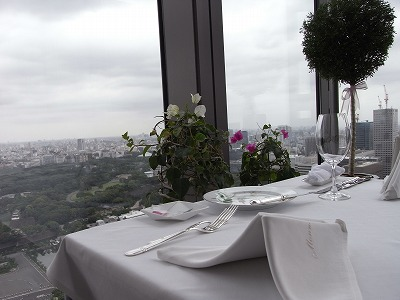 モナリザ テーブル席からの景色
