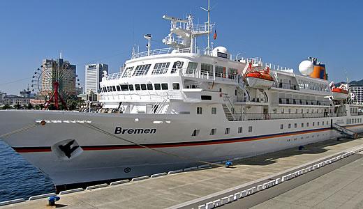 クルーズ客船ブレーメン神戸初入港-1