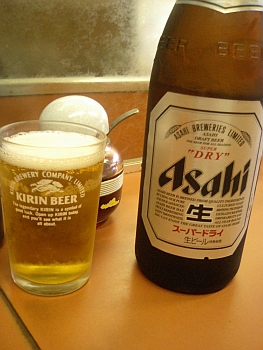 瓶ビールは、中サイズやったわ。