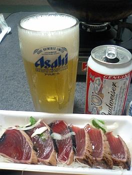 久しぶりのビール