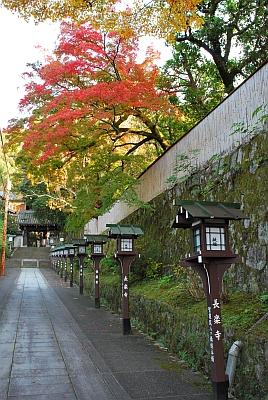 長楽寺への道