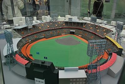 西宮球場のジオラマ