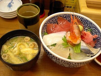 海鮮丼&味噌汁