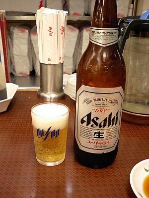 まずは、瓶ビールから