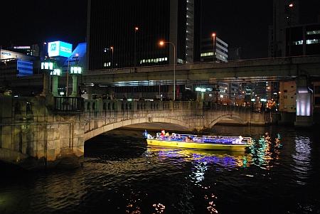 市役所北から大江橋を望む
