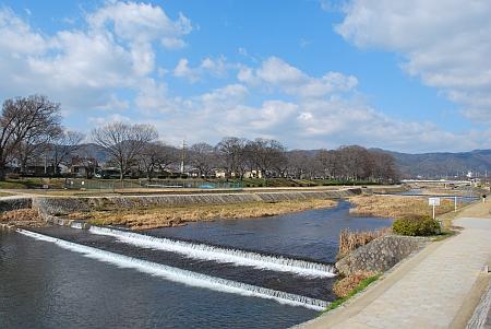 賀茂川は開放感いっぱい