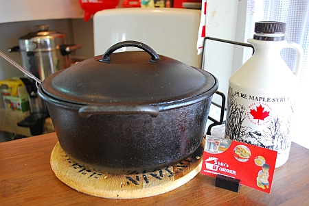 オイスターチャウダーが入ってる鍋