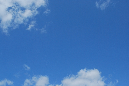 青空がうれしい
