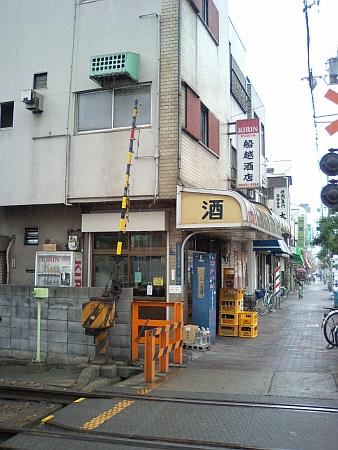 阪堺電車、今船駅付近