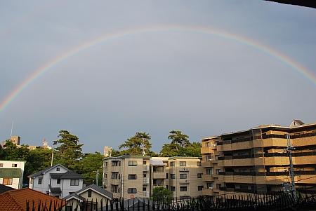 半円の虹になってる~ (^o^)丿