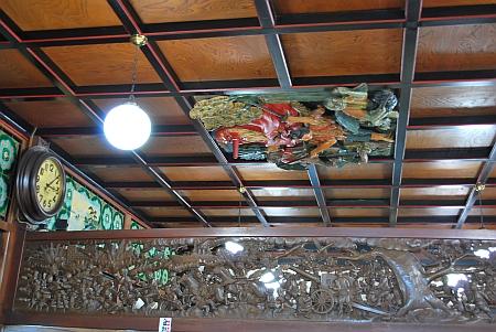脱衣場の天井