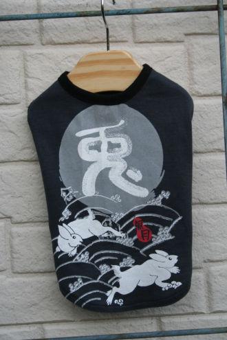 リメイクTシャツ、兎