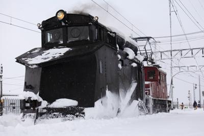 弘南鉄道 ラッセル車 キ105