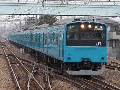 1.回9367M 201系ケヨ72編成廃車回送 豊田にて