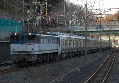 9875レ EF65-1092+南海8000系甲種輸送