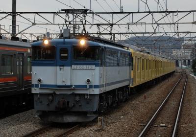 9685レ EF65-1101[高]+西武2000系8B 武蔵野線府中本町にて