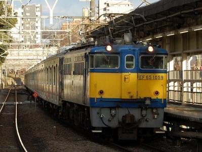 9275レ EF65-1059+東急5118F+5101F用6ドア甲種輸送①
