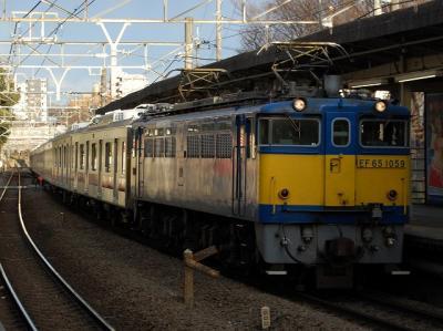 9275レ EF65-1059+東急5118F+5101F用6ドア甲種輸送②